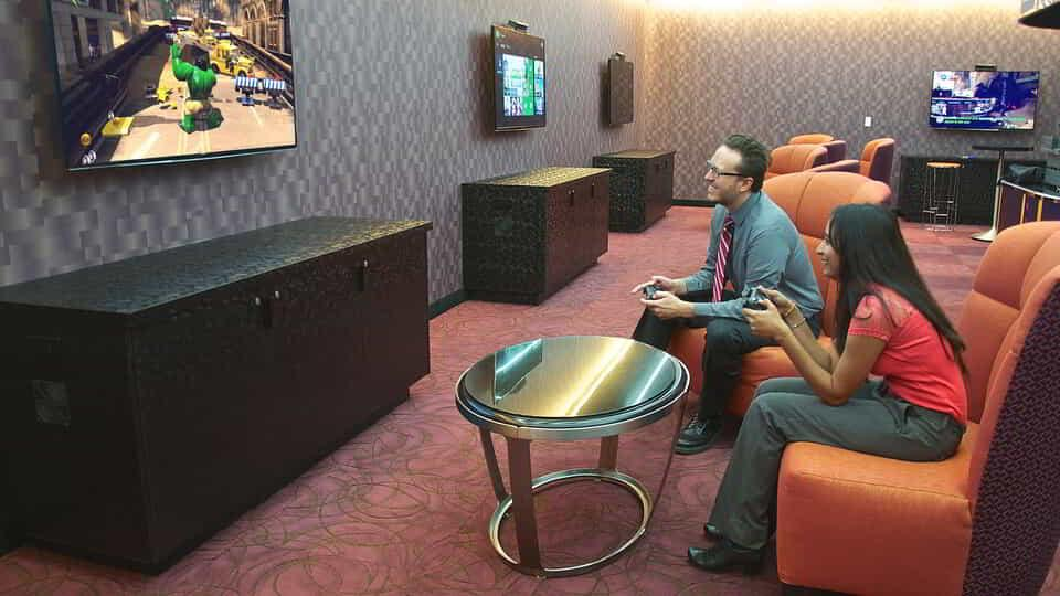 Bring your game on or lounge at the Game Room.