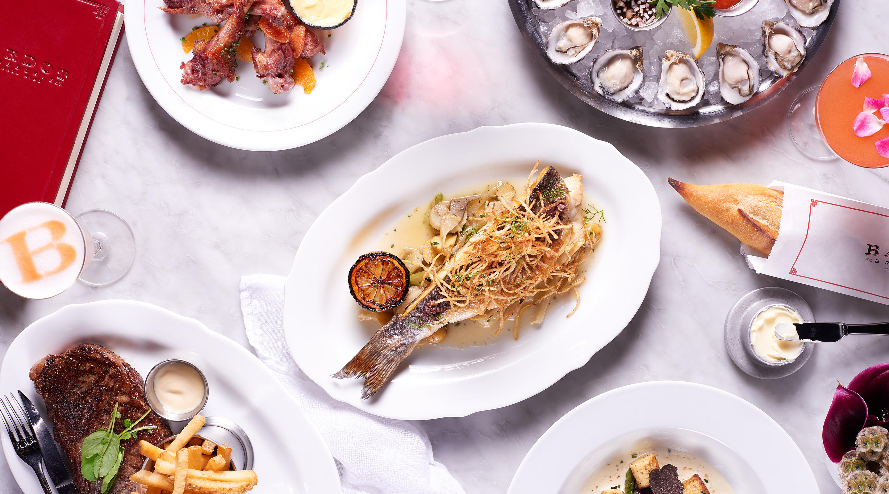 Classic brasserie fare is yours at BARDOT Brasserie.