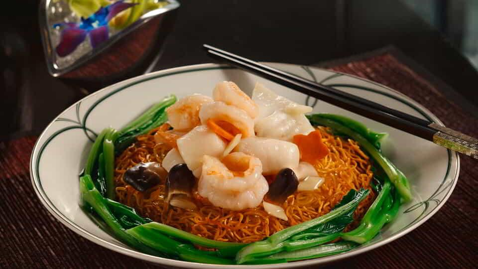 Crispy Noodles with Shrimp.