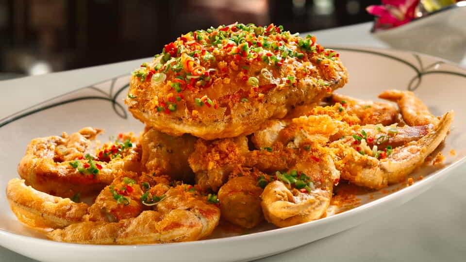 Fried Crab dish.