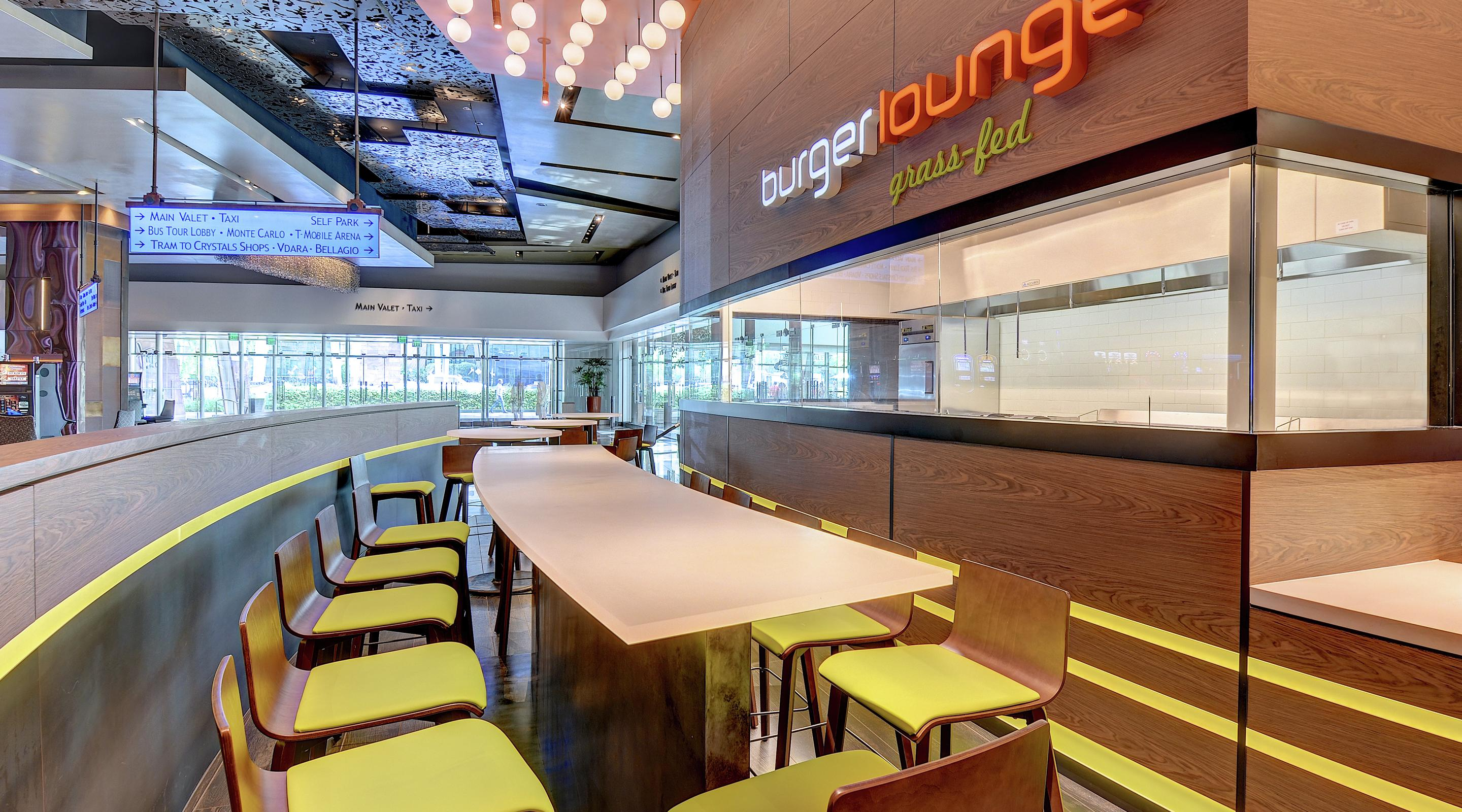 Located on the Casino Level, Burger Lounge is open for lunch, dinner and late night.