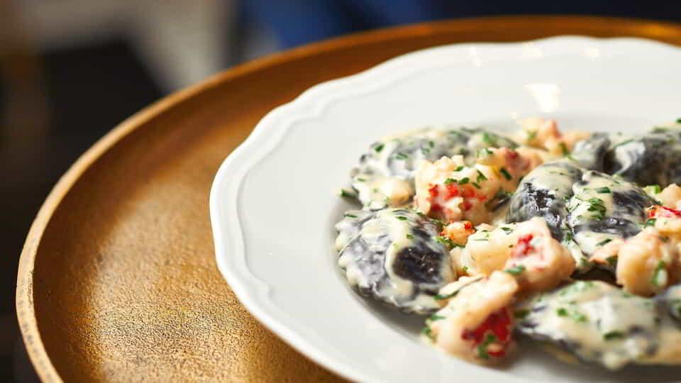 Rich Ravioli can enjoyed at ARIA's fine dining restaurant, Carbone.