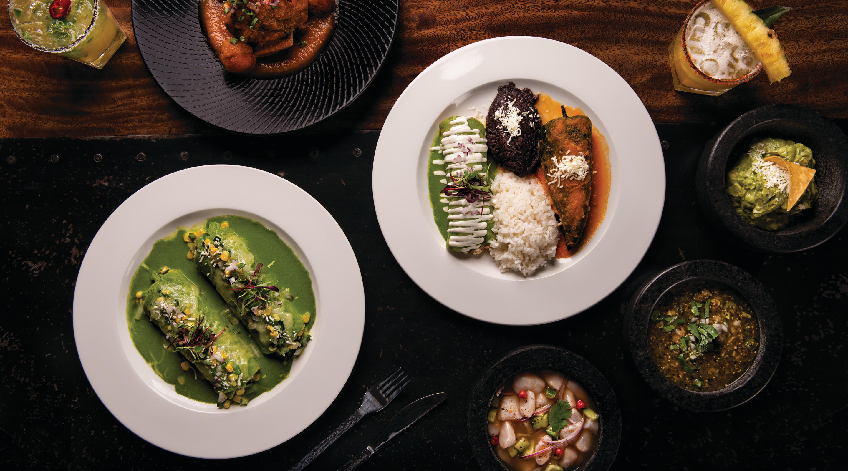 Enjoy Baja specials including selections of seafood, beef, pork, chicken and vegetarian dishes.