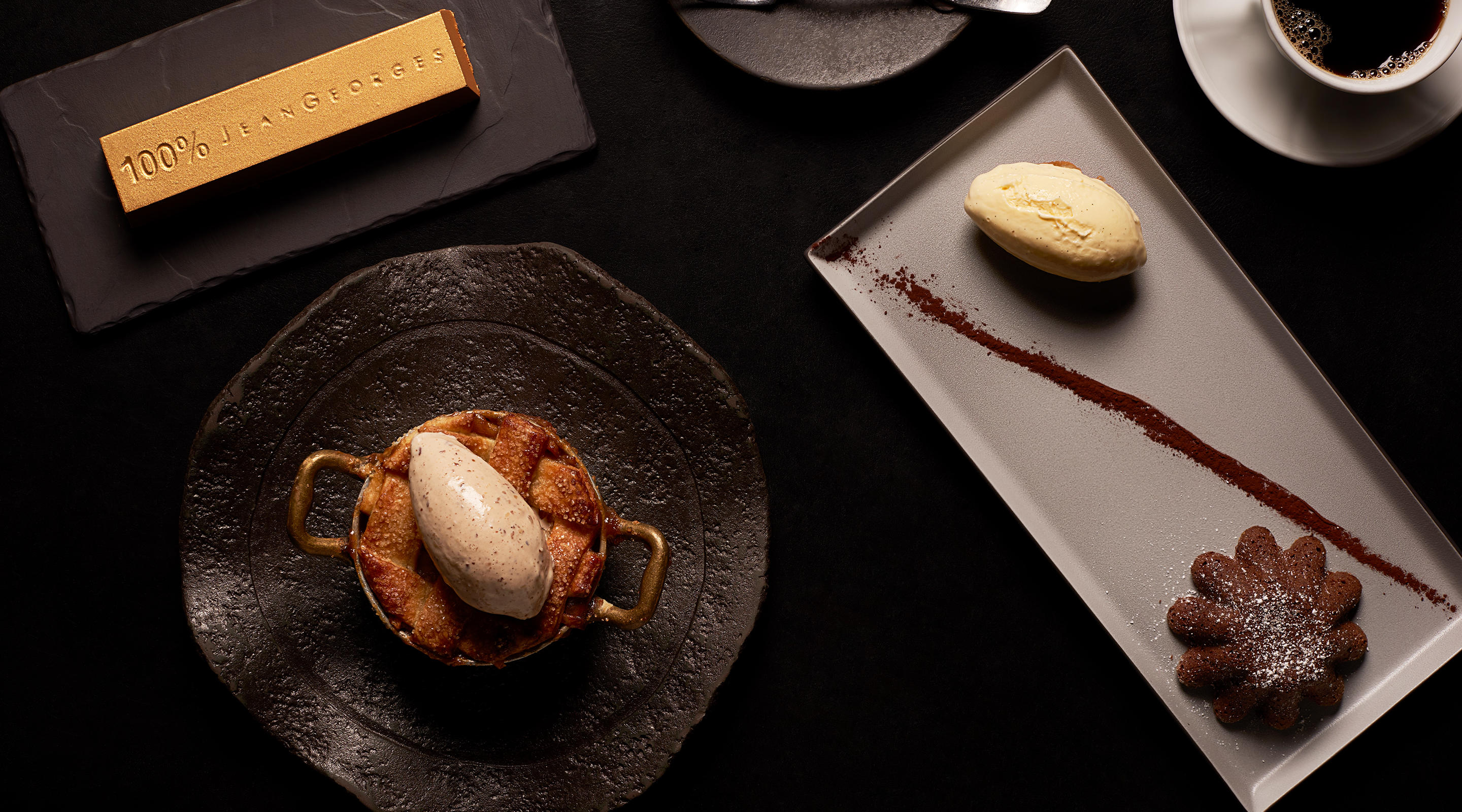 Dessert classics are elevated at Jean Georges Steakhouse.