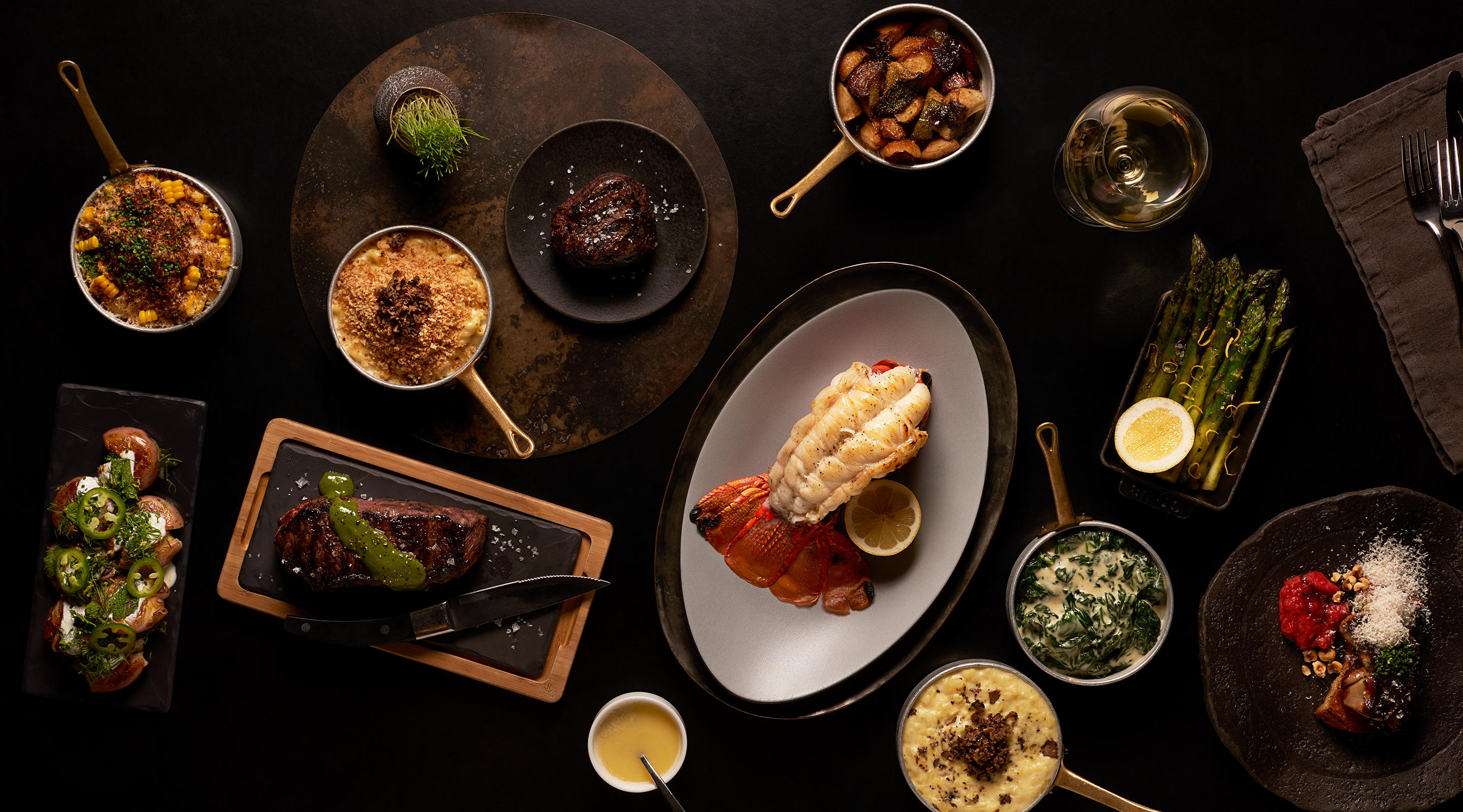 A premium steakhouse dining experience awaits at Jean Georges Steakhouse.