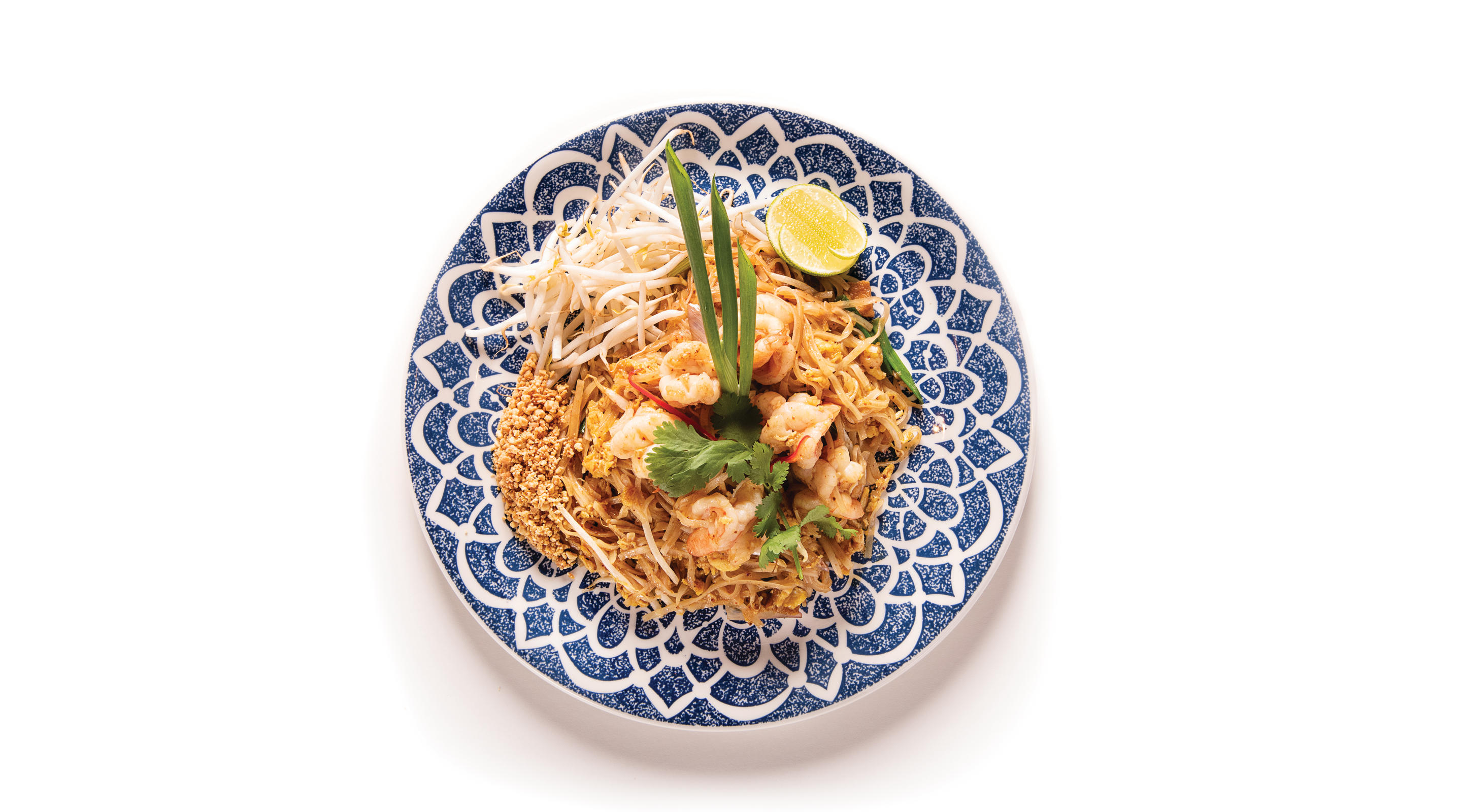 A plate of pad thai from Lemongrass.
