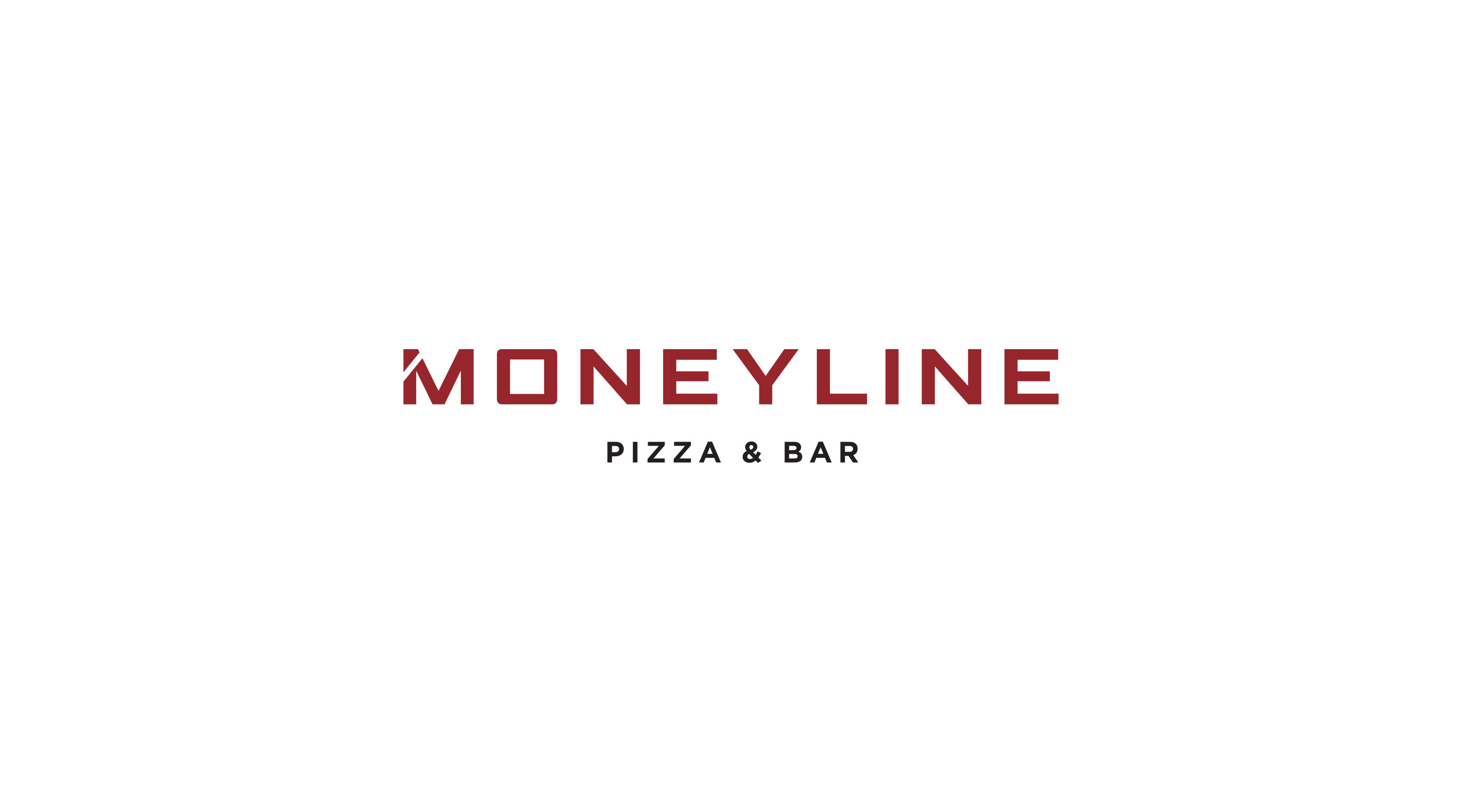 The logo for Moneyline Pizza & Bar.