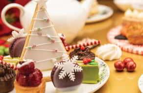 Holiday tea and desserts from ARIA Patisserie.