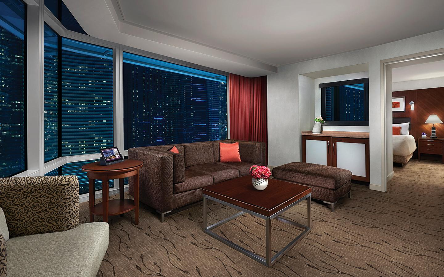 Living Room for ARIA Corner Suite – Strip View.