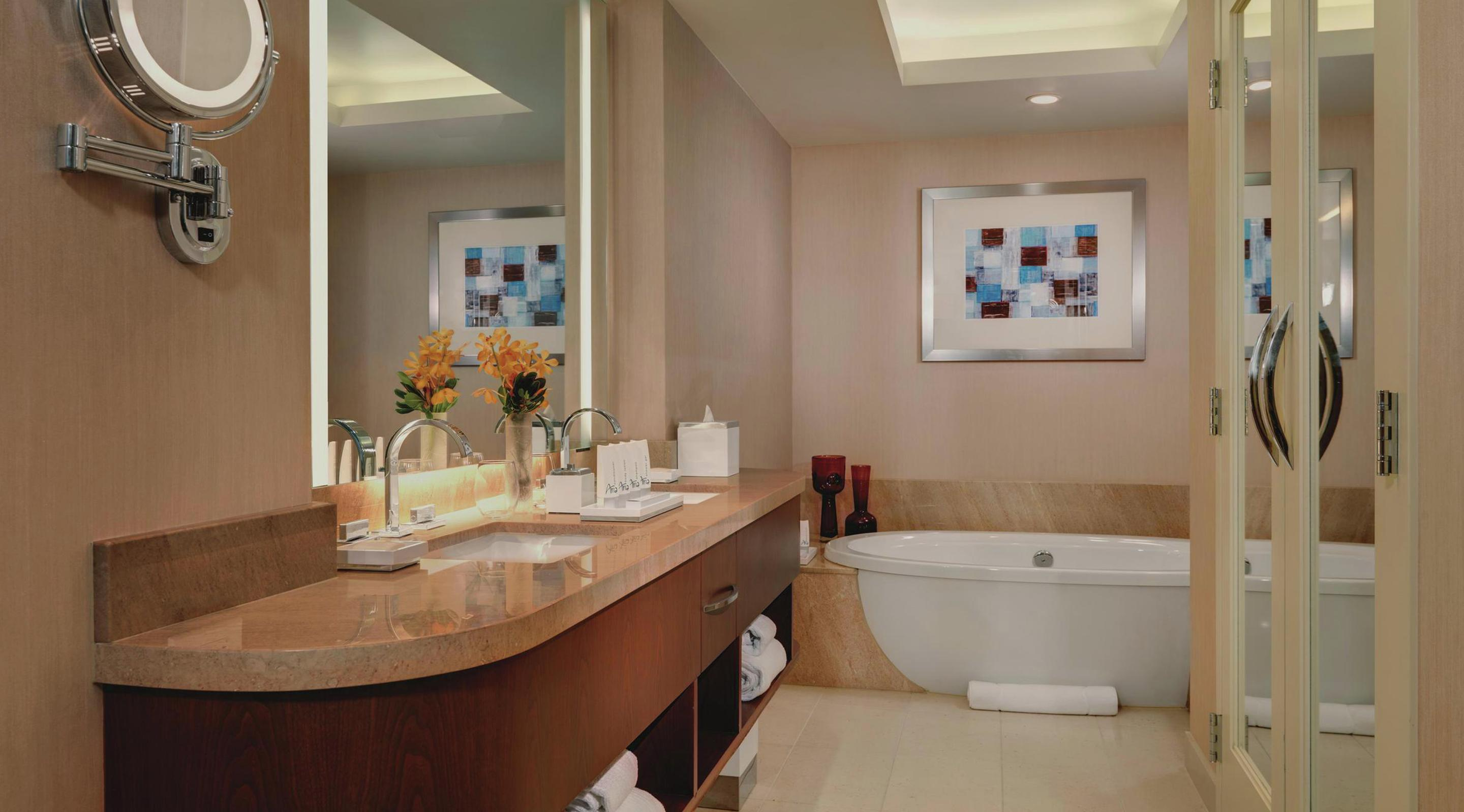 The rooms at ARIA have quickly become the new standard in Las Vegas hotel luxury, even the bathrooms.
