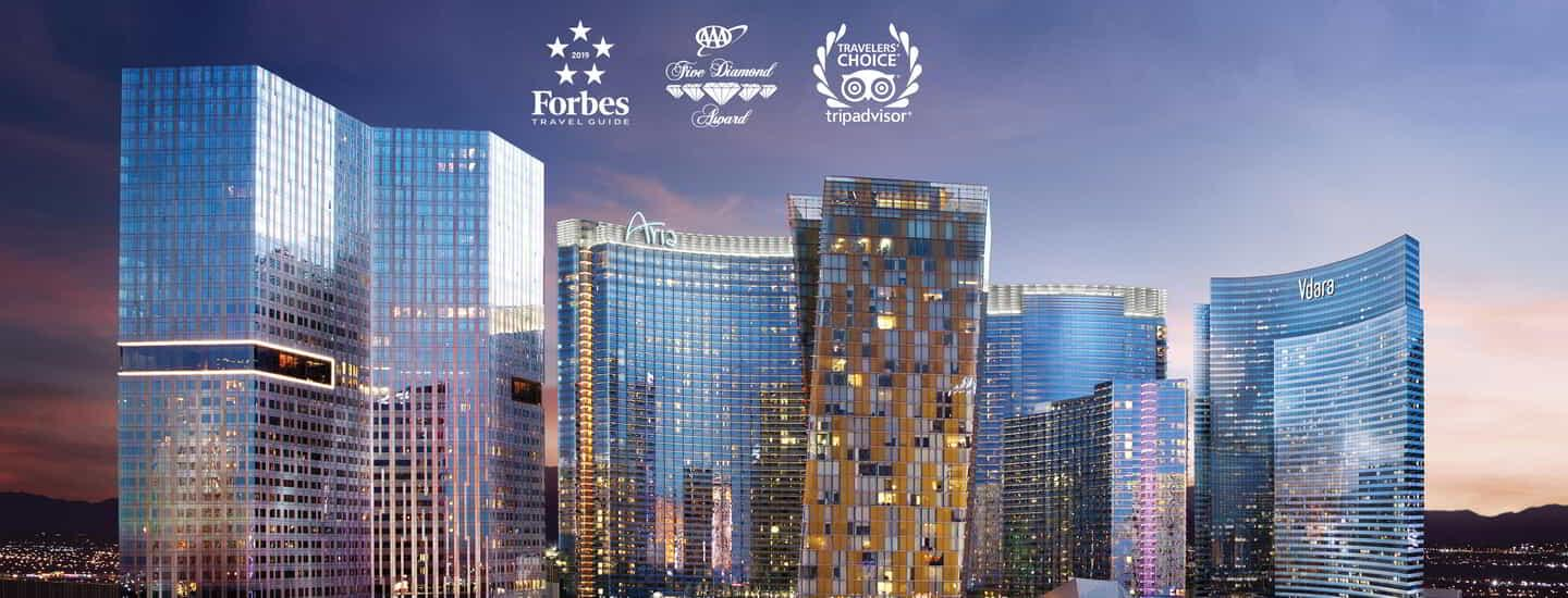 Described as a city within-a-city, the ARIA Campus is comprised of ARIA Resort & Casino and Vdara Hotel & Spa.