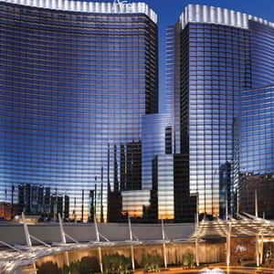 Aria Hotel and Casino main entrance..