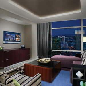 Living Room for ARIA Sky Suites – One Bedroom Penthouse.