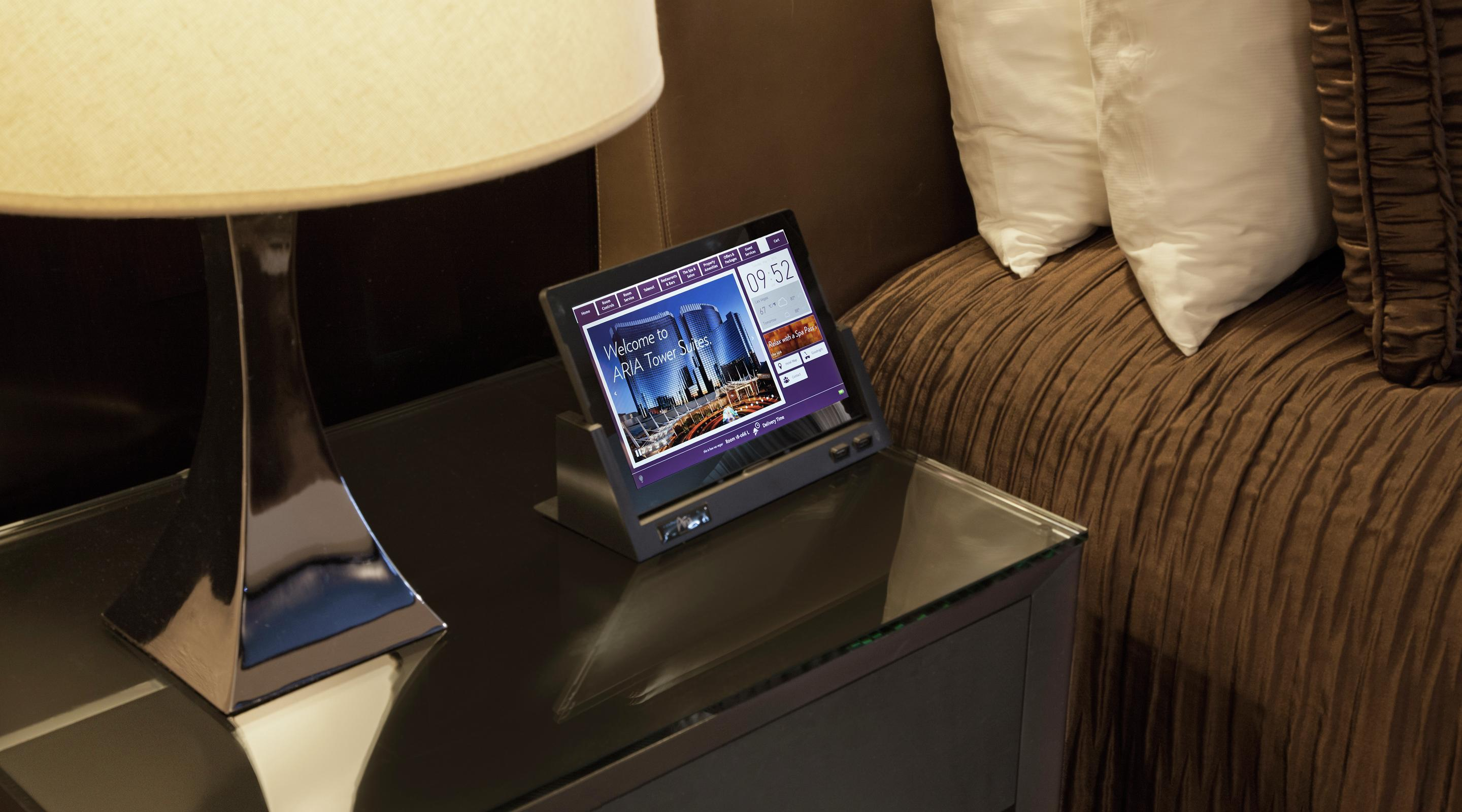 Experience ARIA's in-room tablets.