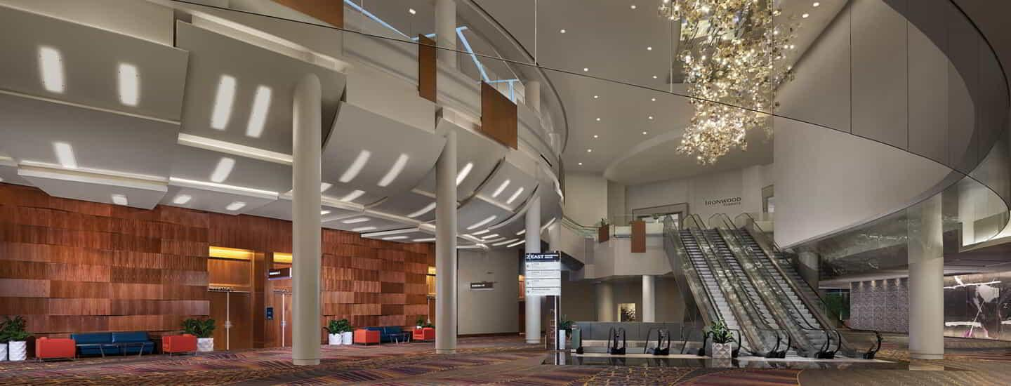 The Interior of the main convention entrance.