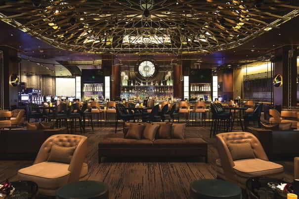 ALIBI Cocktail Lounge, at ARIA Resort & Casino celebrates the perfect convergence of premium spirits, imaginative ingredients & highly stylized opulence.