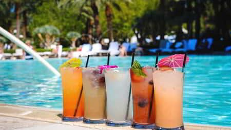 Enjoy refreshing beverages poolside at ARIA.