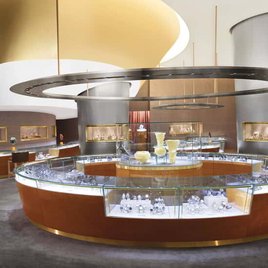 Artistic fine jewelry and luxury watches are delivered in a spectacularly designed Las Vegas shopping environment within ARIA Resort & Casino.
