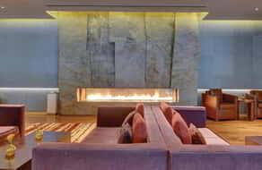 ARIA Wedding Fireplace Couches