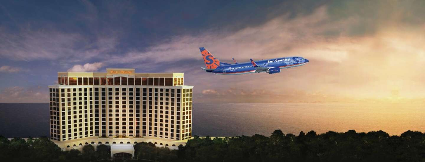 Sun Country flights can get you to Beau Rivage.