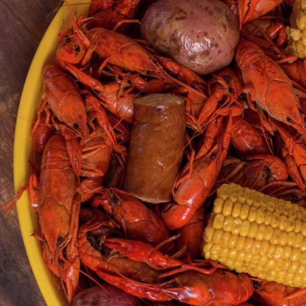 Mouthwatering crawfish on the Gulf Coast.