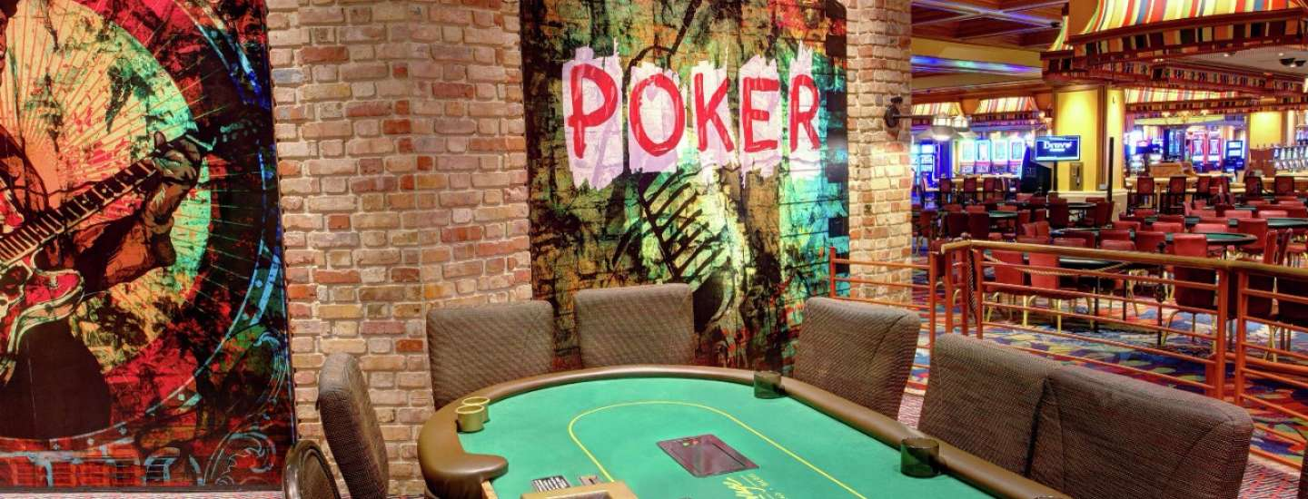 Poker room interior.