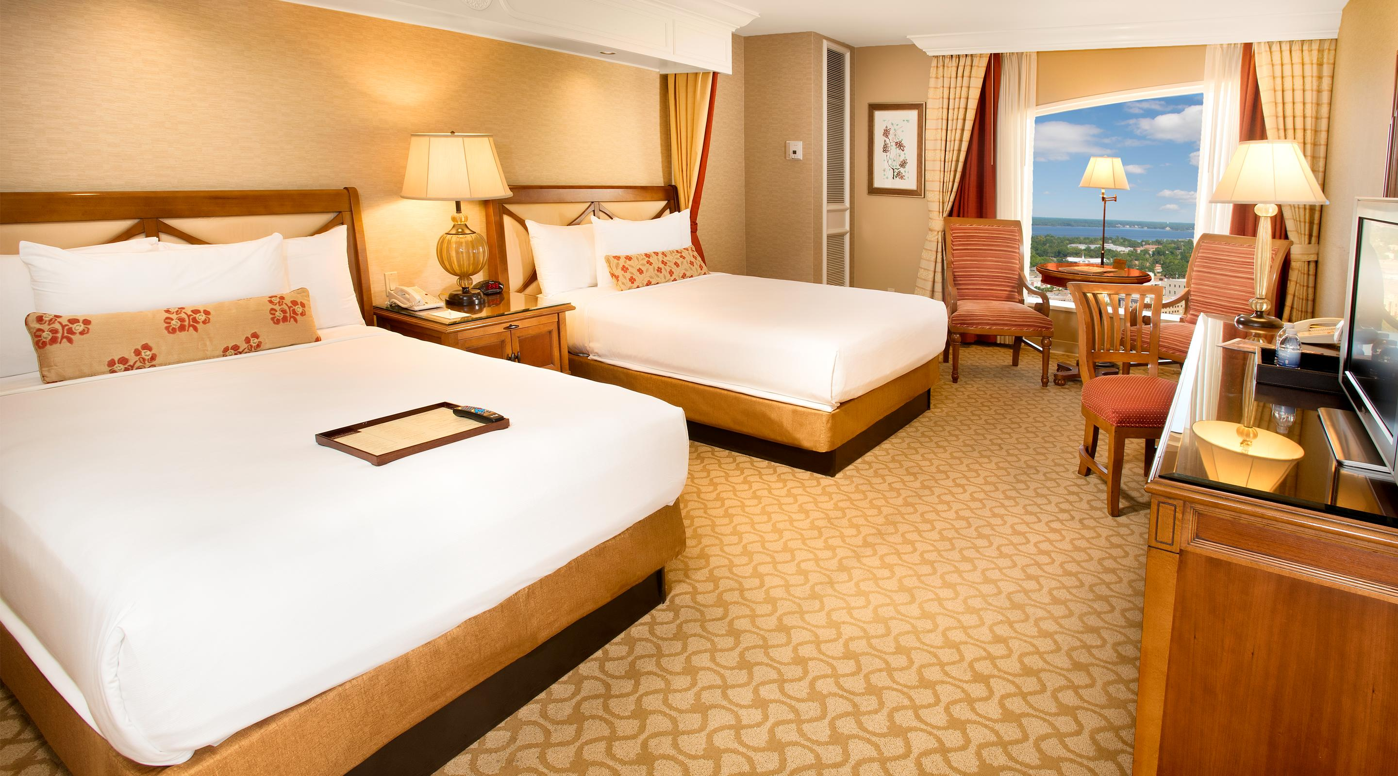 Deluxe Double room at Beau Rivage.