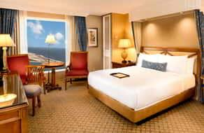 Deluxe King Ocean View room at Beau Rivage.