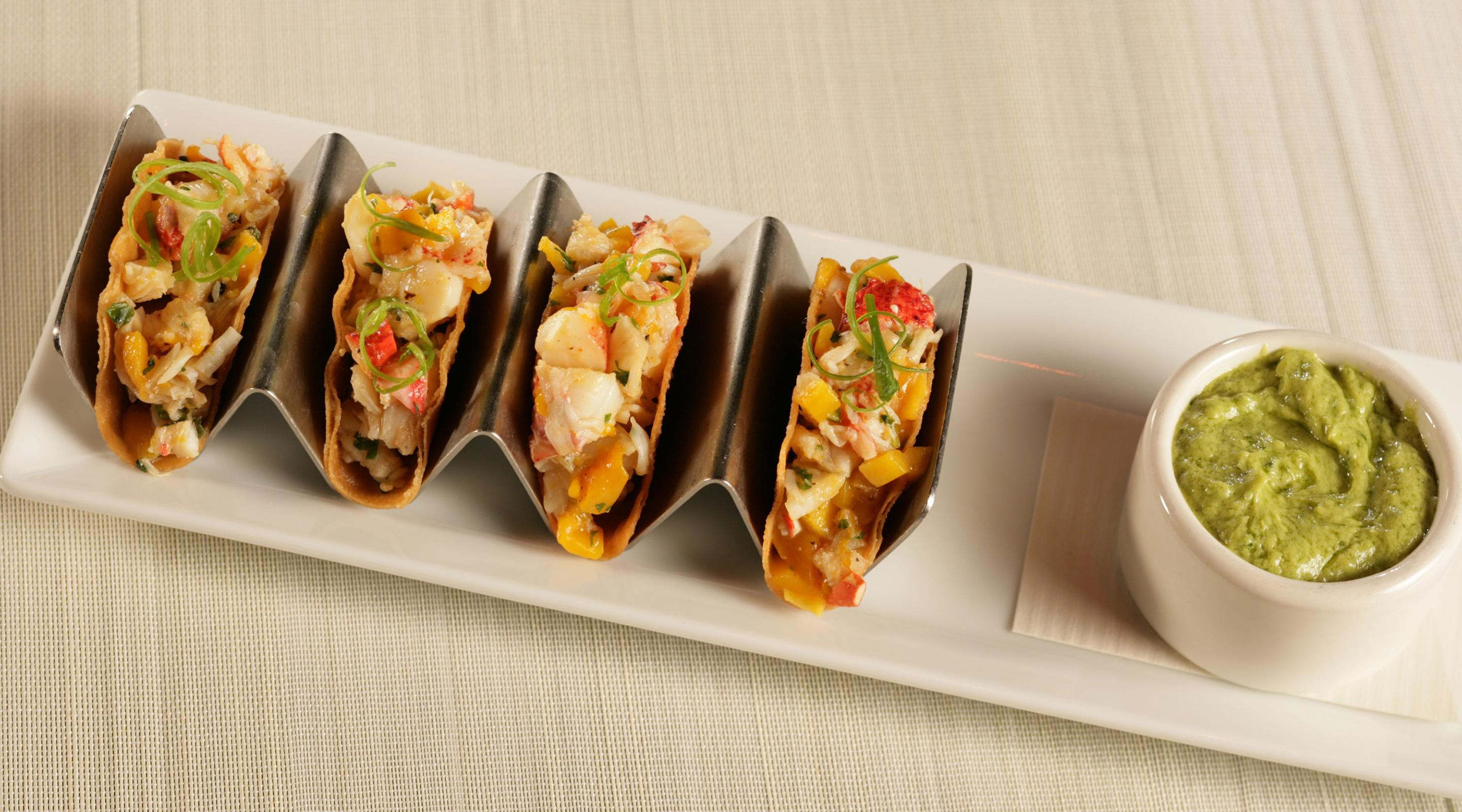 Fix serves lobster tacos.