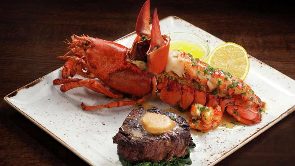 Maine lobster and steak available at Fix.