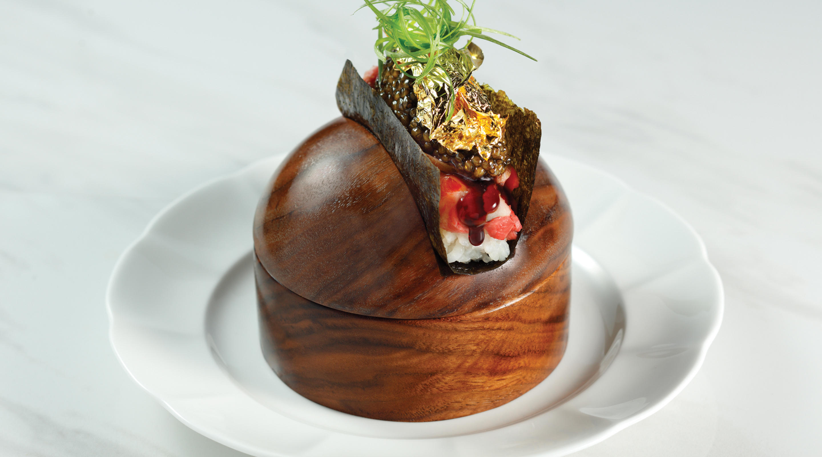 The Wagyu Hand Roll at Mayfair Supper Club.