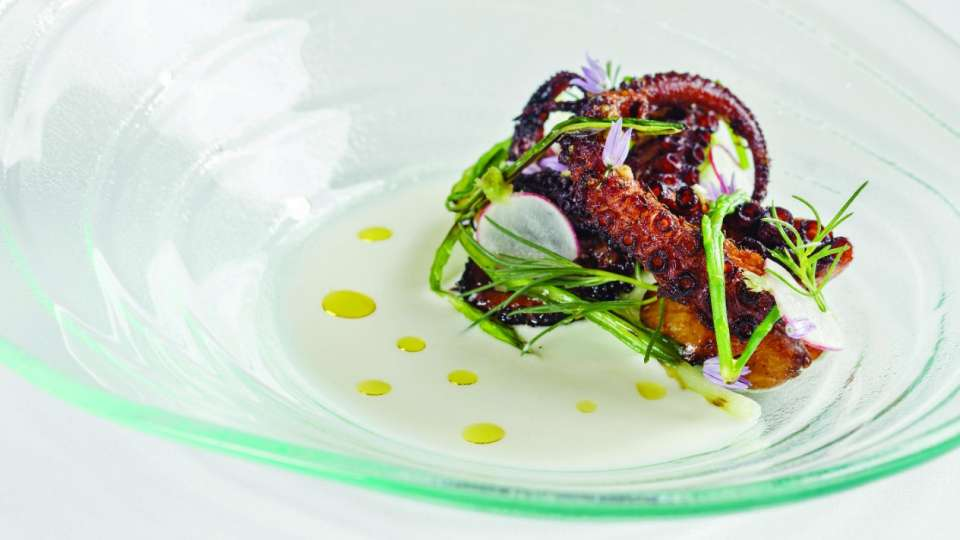 Grilled Portuguese Octopus from Michael Mina Bellagio.