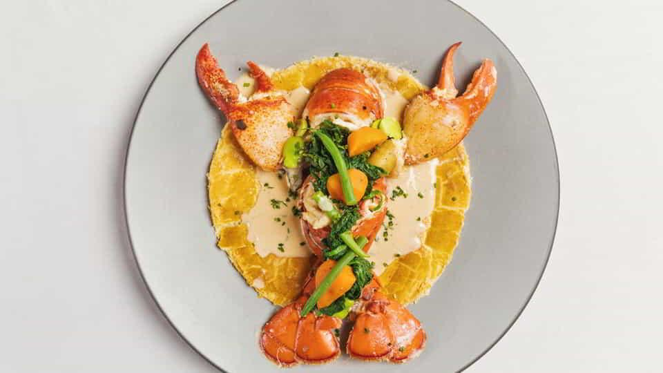 Michael Mina's perfectly plated lobster.