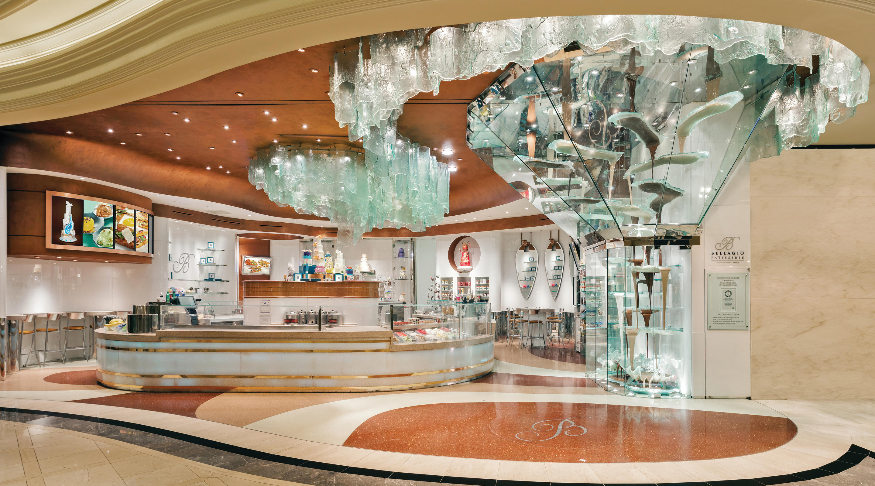 An interior view of the Bellagio patisserie.
