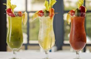 Trio of Bloody Marys.