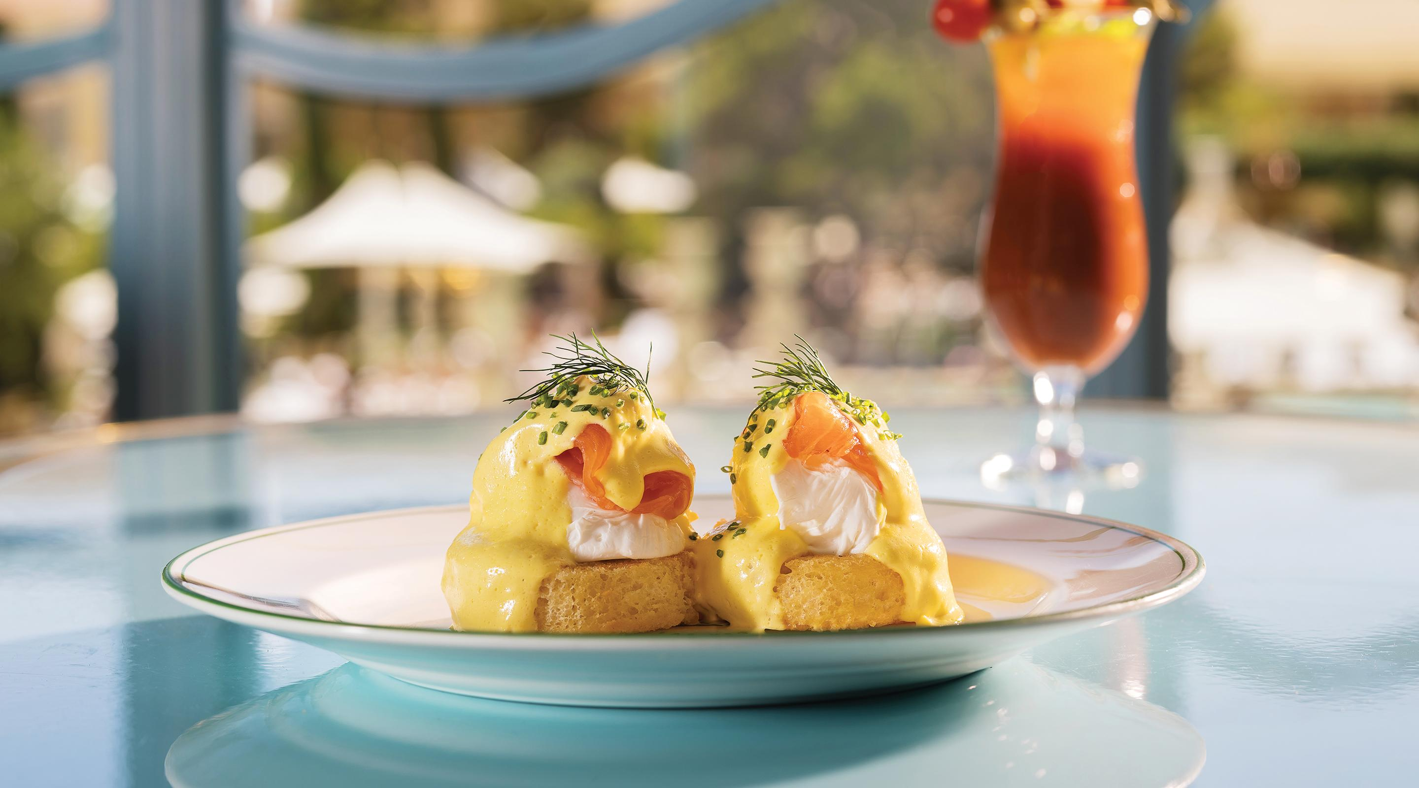Egg Benedict at Sadelle's at Bellagio Casino & Resort.