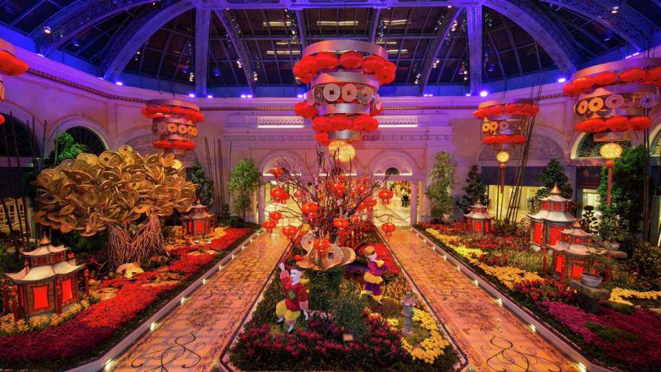 The Bellagio Conservatory has been redesigned for the 2016 Chinese New Year.