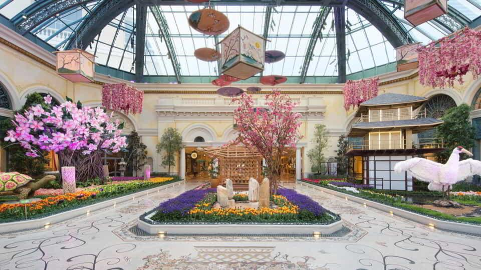 The Bellagio Conservatory has been redesigned for the 2016 Springtime.