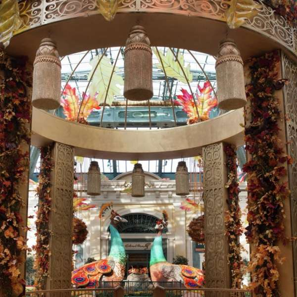 Autumn colors surround you as you enter the Fall Conservatory.