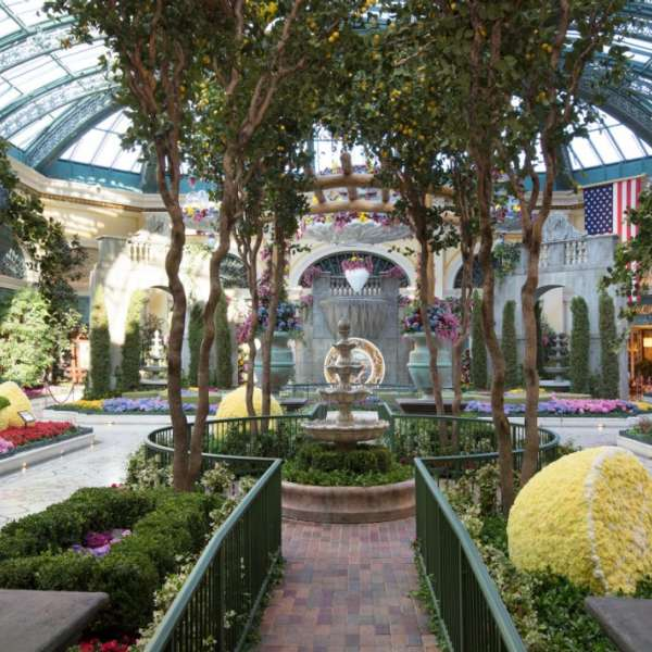 This is a picture of the walkway in the summer conservatory.