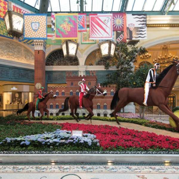 Race horses in the Conservatory at Bellagio.