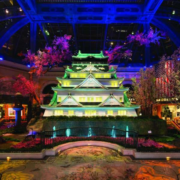 Osaka castle in Japanese Spring at the Conservatory at Bellagio.