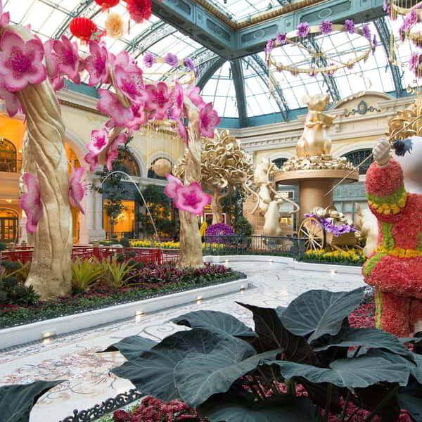 Full Chinese New Year display for Chinese New Years in Bellagio Conservatory.