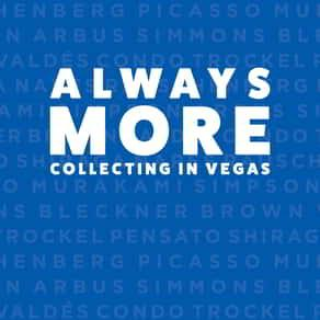 Logo for the Always More collection at BGFA in the Bellagio.
