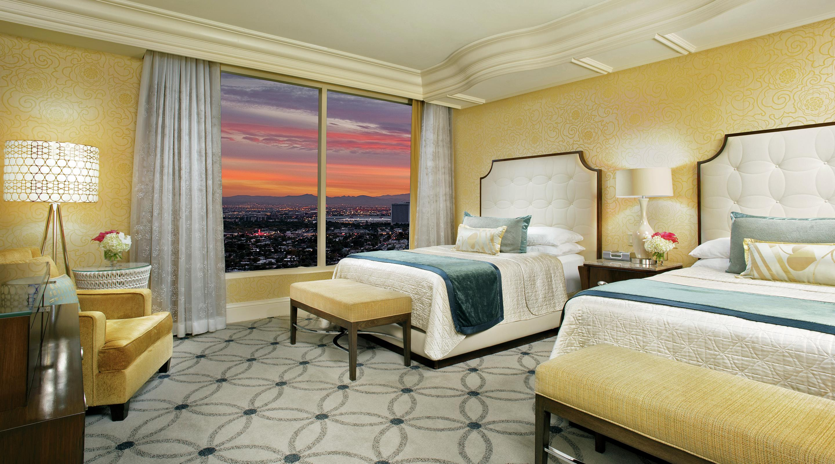 Bellagio's new Queen Suite bedroom.