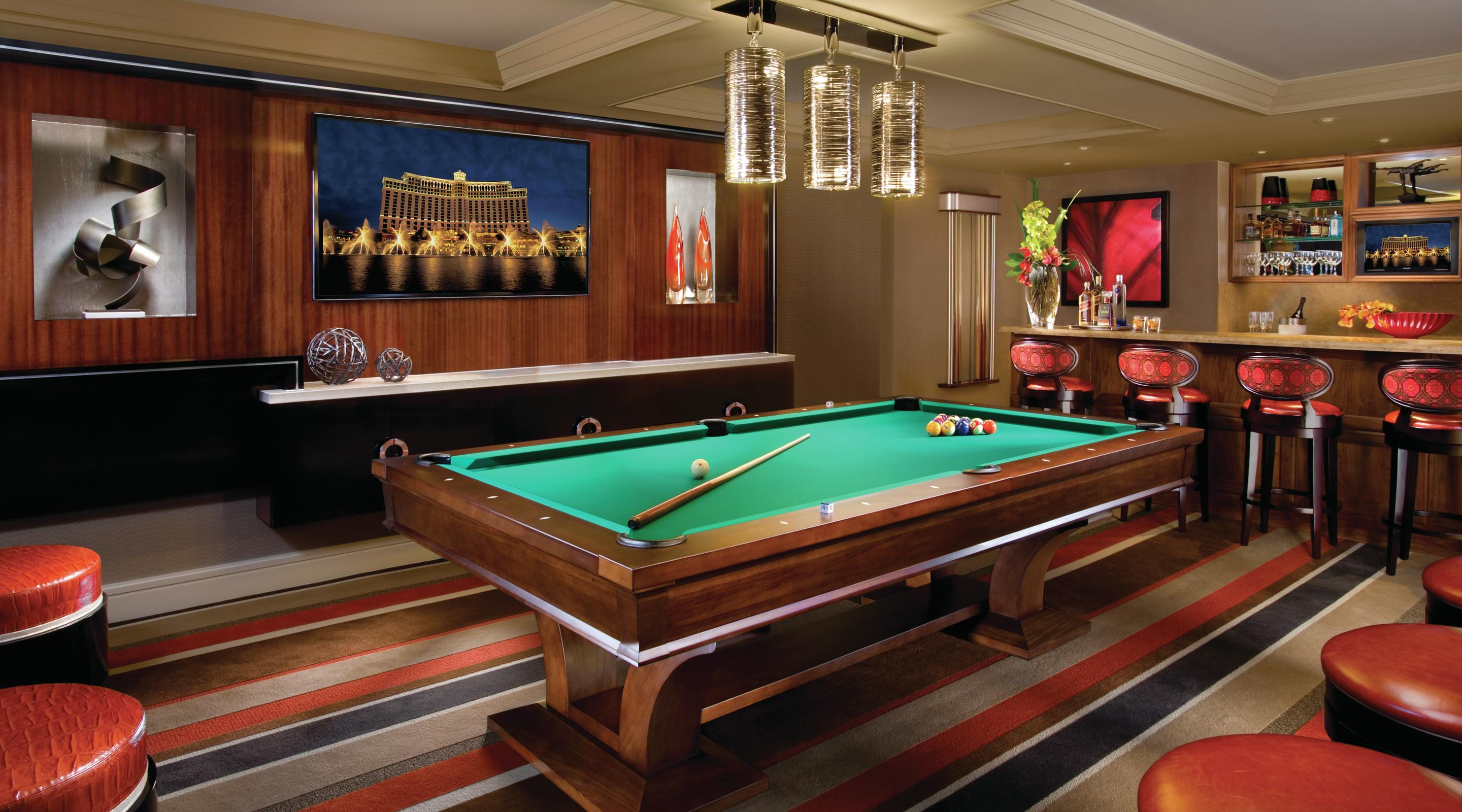 Bellagio Executive Parlor Suite Billiard Room
