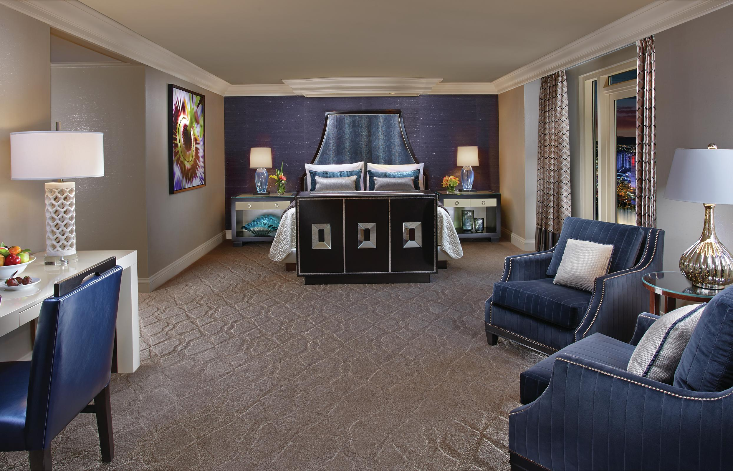 The bedrooms of our 2 Bedroom Lakeview Suites are stunning.
