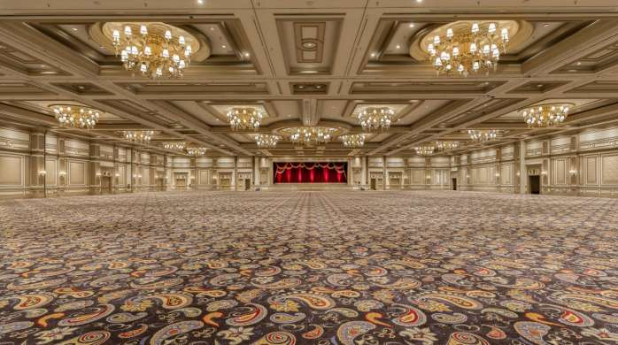 The Grand Ballroom with no setup with a straight shot.