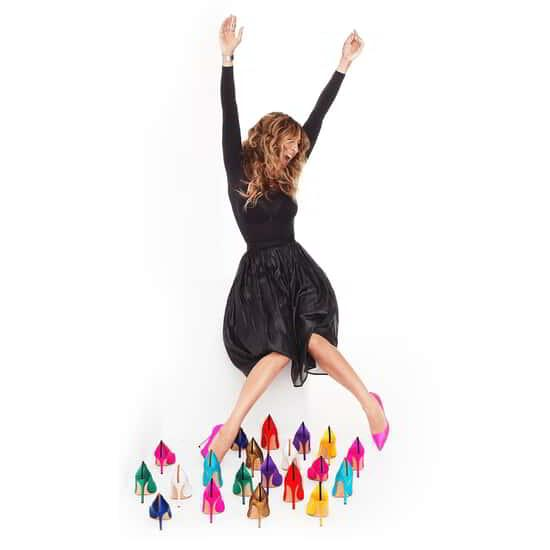 Sarah Jessica Parker's bright colored shoe collection.