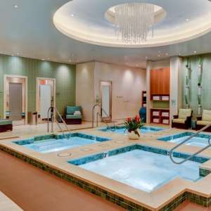 An image of the jacuzzi that the men's locker room leads into.